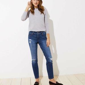 Loft Petite Modern Destructed Skinny Jean Size 29